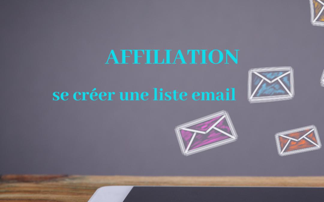 affiliation créer liste base emails